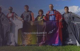 Russian wingsuit pilots forged into the lead at the First FAI World Wingsuit Flying Championship